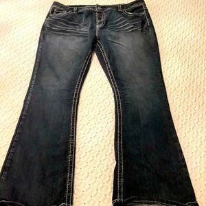 Plus Size 20+R, warehouse one Dark indigo Bootcut